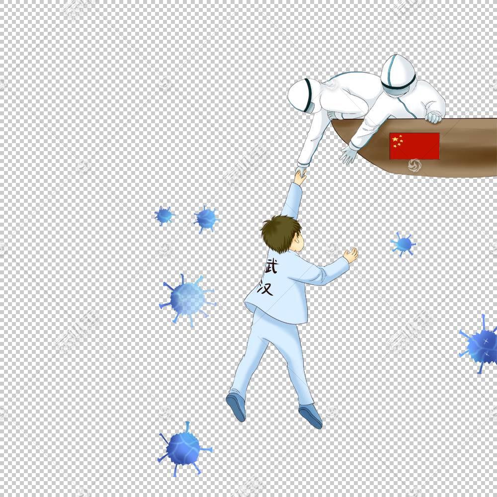 新冠状病毒肺炎宣传插画配图