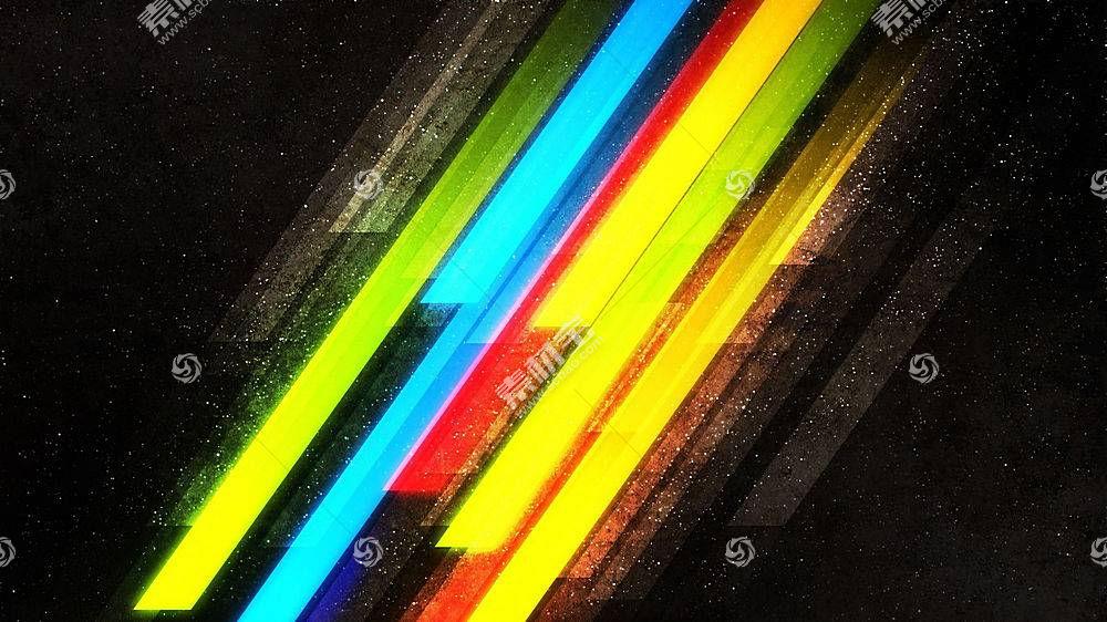 华美,抽象,条纹,简单,数字艺术,线,彩虹13583