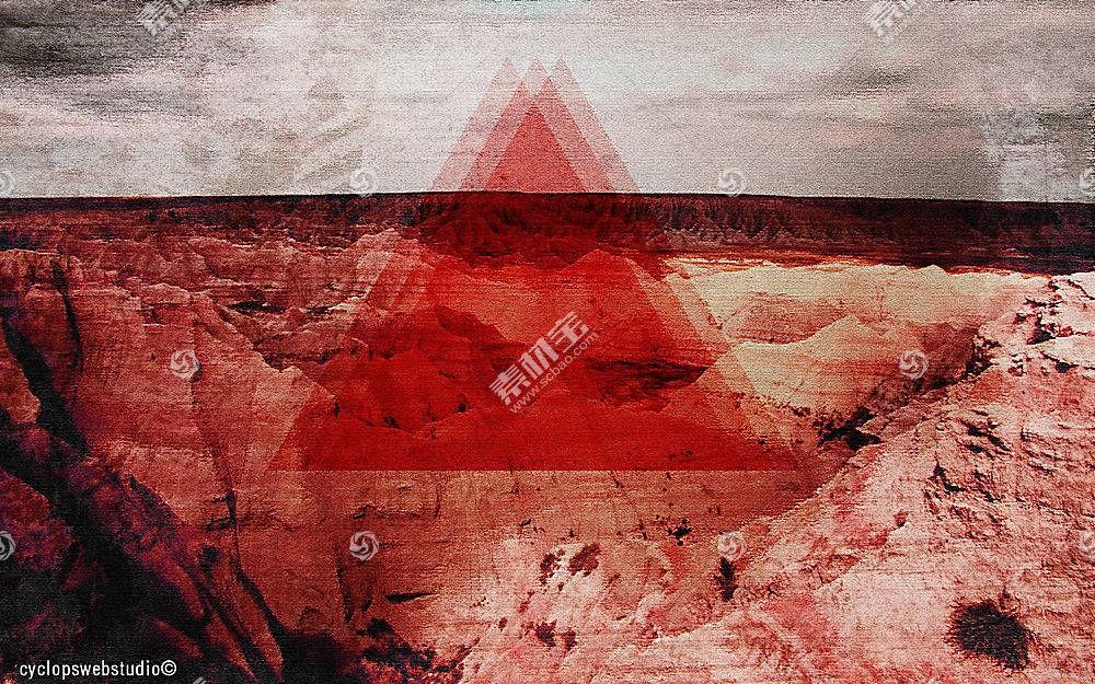 三角形,抽象,数字艺术21722