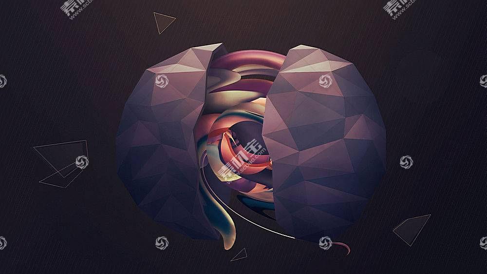 低聚,抽象,数字艺术24737