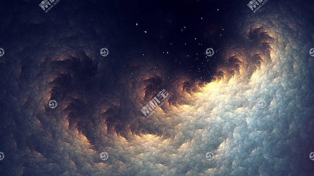 分形,抽象,明星,空间,数字艺术,太空艺术,天空388544