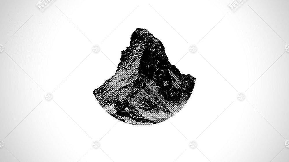 马特,山,简单的背景,极简主义,抽象48905
