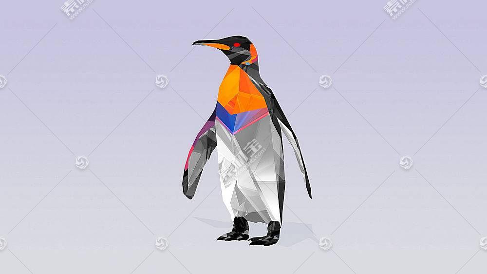 鸟类,企鹅,抽象,几何,数字艺术322359