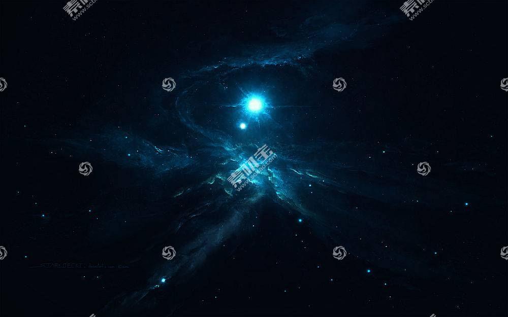 黑暗,星云,抽象,科幻小说,空间,星系,宇宙,明星,太空艺术,Starkit图片