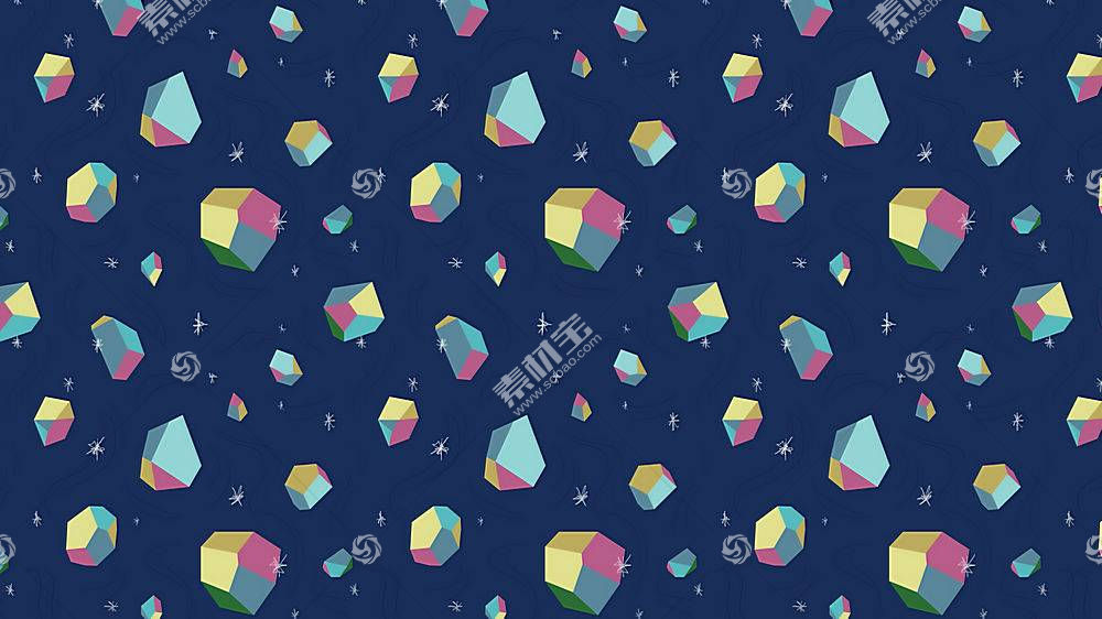数字艺术,极简主义,质地,简单,简单的背景,3D,3d对象,华美,明星,