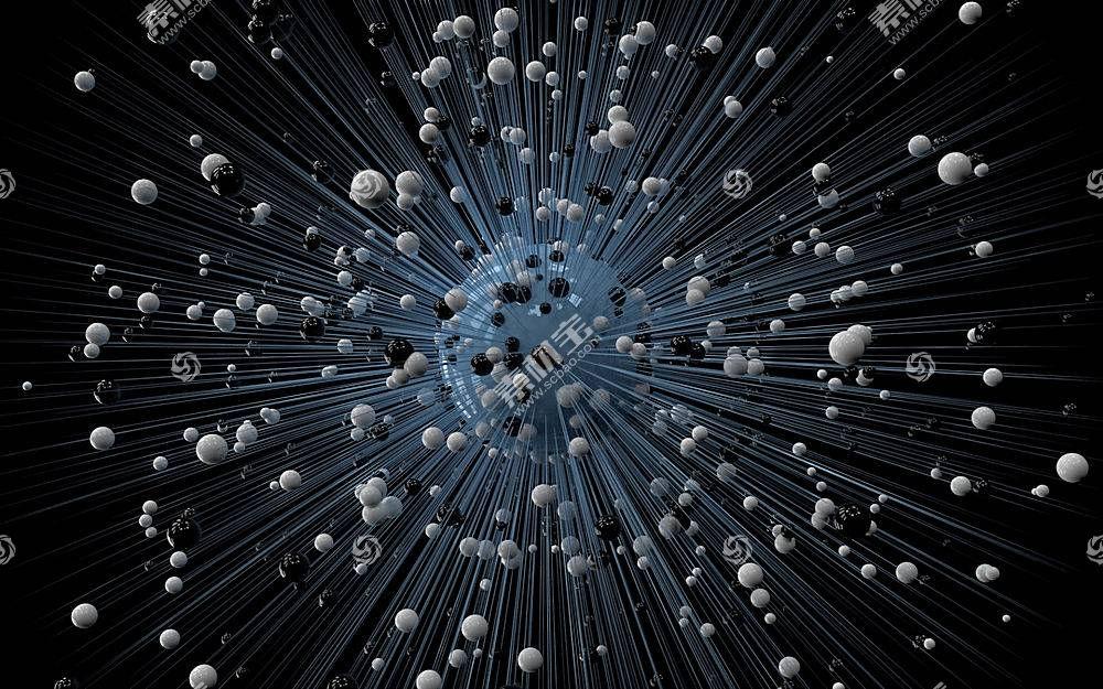 黑色背景,抽象,数字艺术,3D摘要,领域,线,球662281