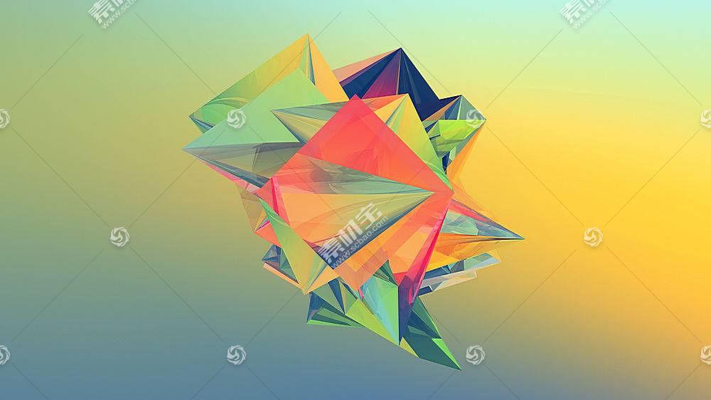 贾斯汀马勒,抽象,梯度,几何,华美,简单的背景20339
