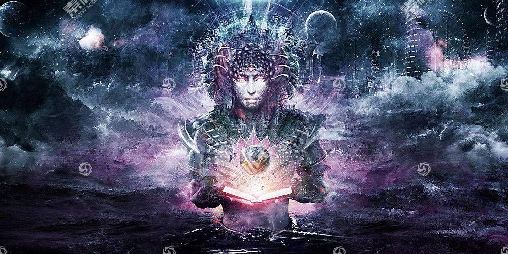 迷幻,抽象,神,图书,空间,海,卡梅伦格雷,精神,迷幻650181