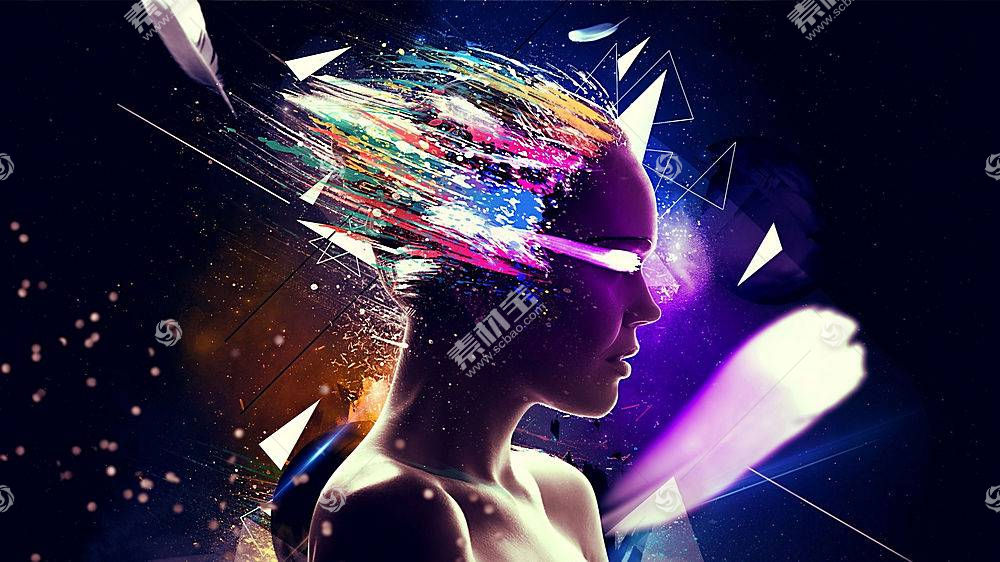 音乐,抽象,面对,妇女,数字艺术,形状,线20680