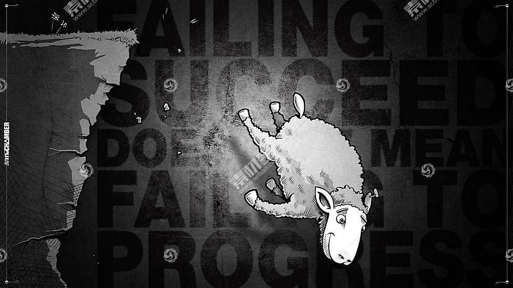 Antichamber,视频游戏,动画片,羊,动物,单色94744