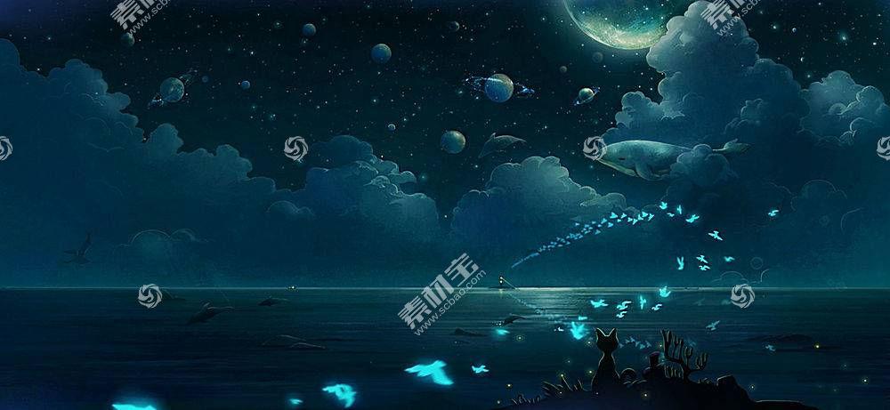 蝴蝶,云,晚,行星,鲸,猫,鱼,动物,鸟类417408