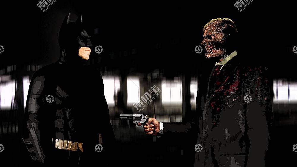 电影,蝙蝠侠,黑暗骑士,双面人,MessenjahMatt51997