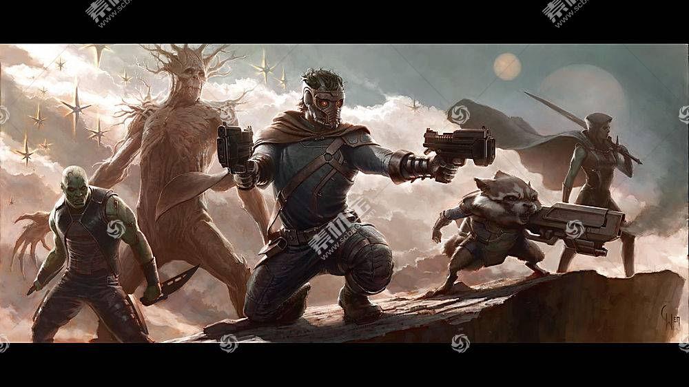电影,银河护卫队,Drax驱逐舰,星主,火箭浣熊,Gamora,格鲁特50732
