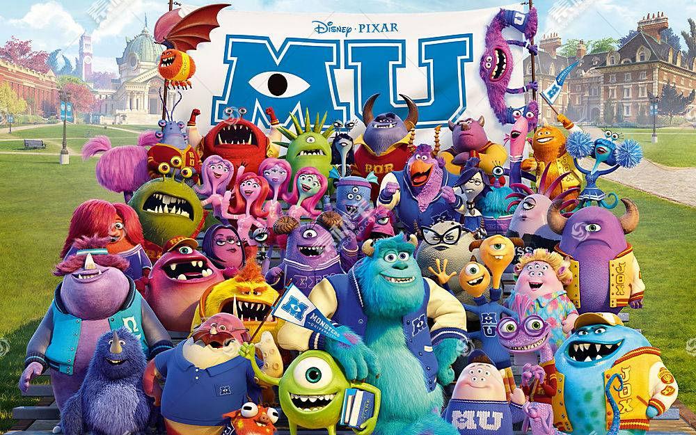 电影,怪兽大学,迪士尼皮克斯,皮克斯动画工作室,大学,怪物公司。1