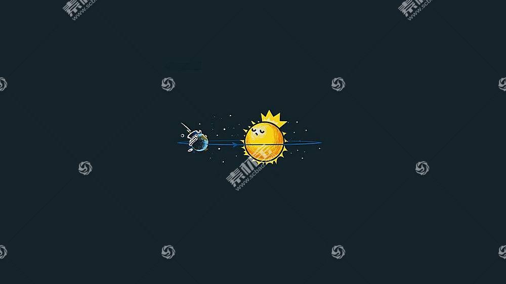 极简主义,螺纹,空间,太阳,地球,月亮,蓝色,动画,简单的背景,数字