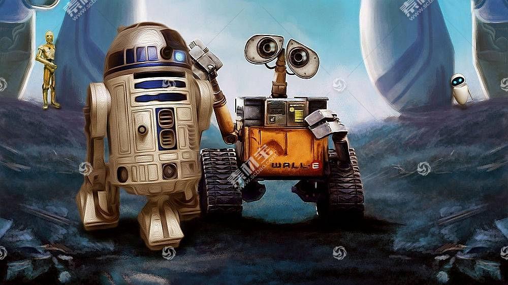 瓦力,皮克斯动画工作室,星球大战,机器人,电影,R2-D2,交叉40946