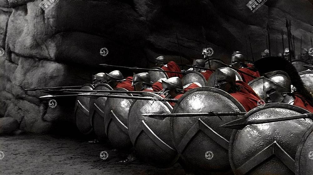 300,斯巴达,斯巴达,选择性着色,shelds,希腊语,军队,电影113723