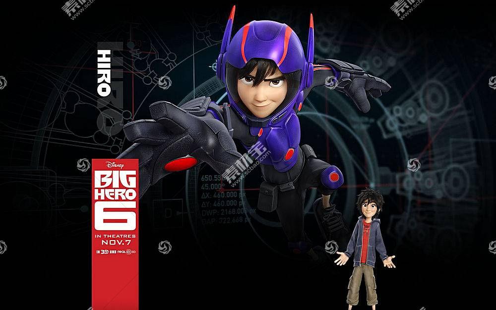 Hiro Hamada(大英雄6),大英雄6,电影,动画电影,华特迪士尼,迪士