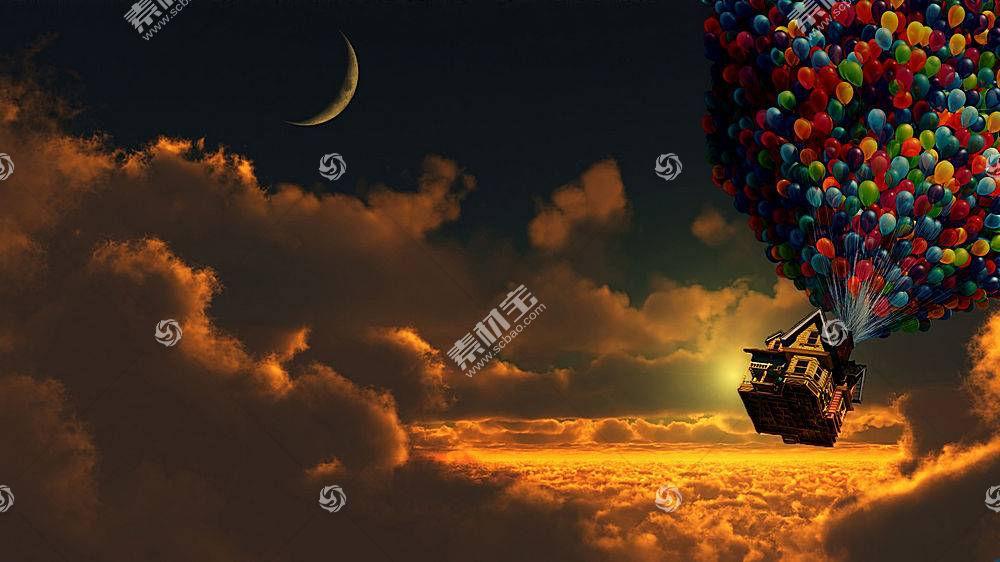 Up(电影),皮克斯动画工作室,电影,天空,云,数字艺术,晴朗的天空