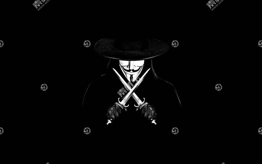 V字仇杀队,V,匕首,电影,单色,极简主义62053