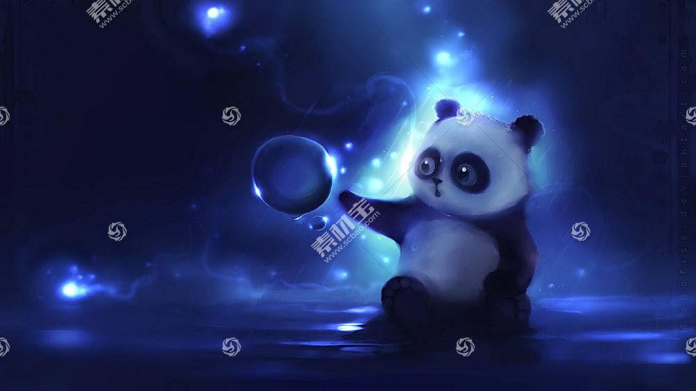 动漫,Apofiss,艺术品,泡泡,熊猫,动物,DeviantArt的22400