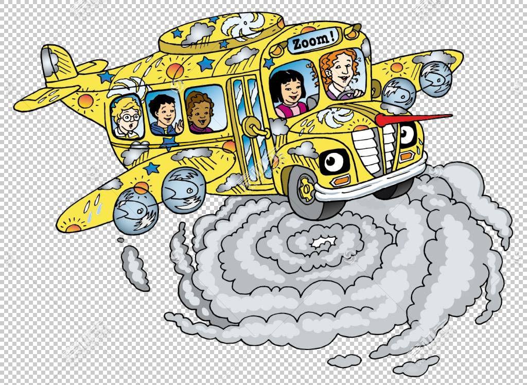 魔术校车电视节目Scholastic公司,巴士PNG剪贴画电视,校车,汽车,