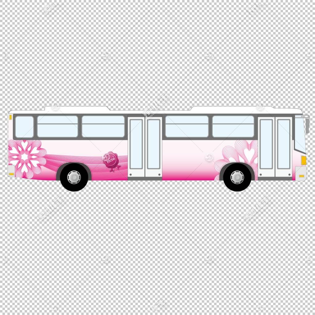 美丽的粉红色巴士PNG剪贴画紫色,汽车,公共交通工具,卡通,车辆,封