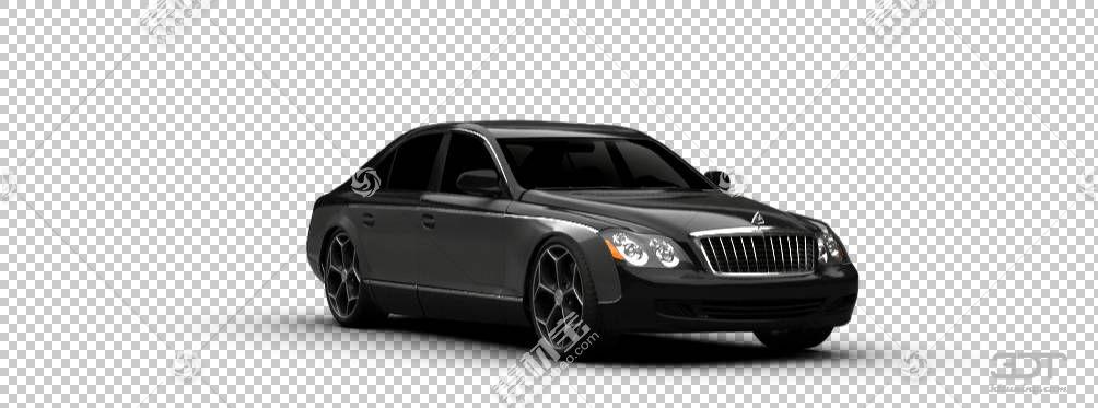 迈巴赫57和62劳斯莱斯幻影汽车豪华车,迈巴赫透明PNG剪贴画紧凑型