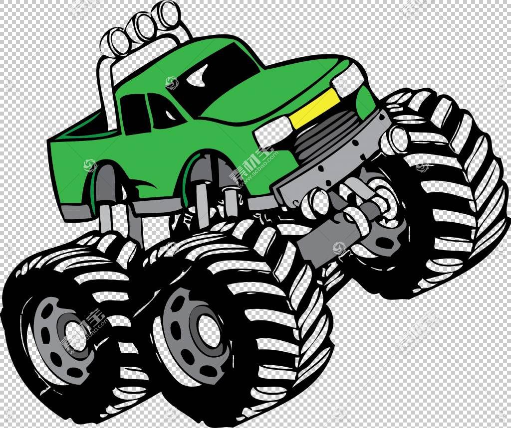 皮卡车汽车怪物卡车,工作卡车的PNG剪贴画赛车,卡车,汽车,皮卡车,