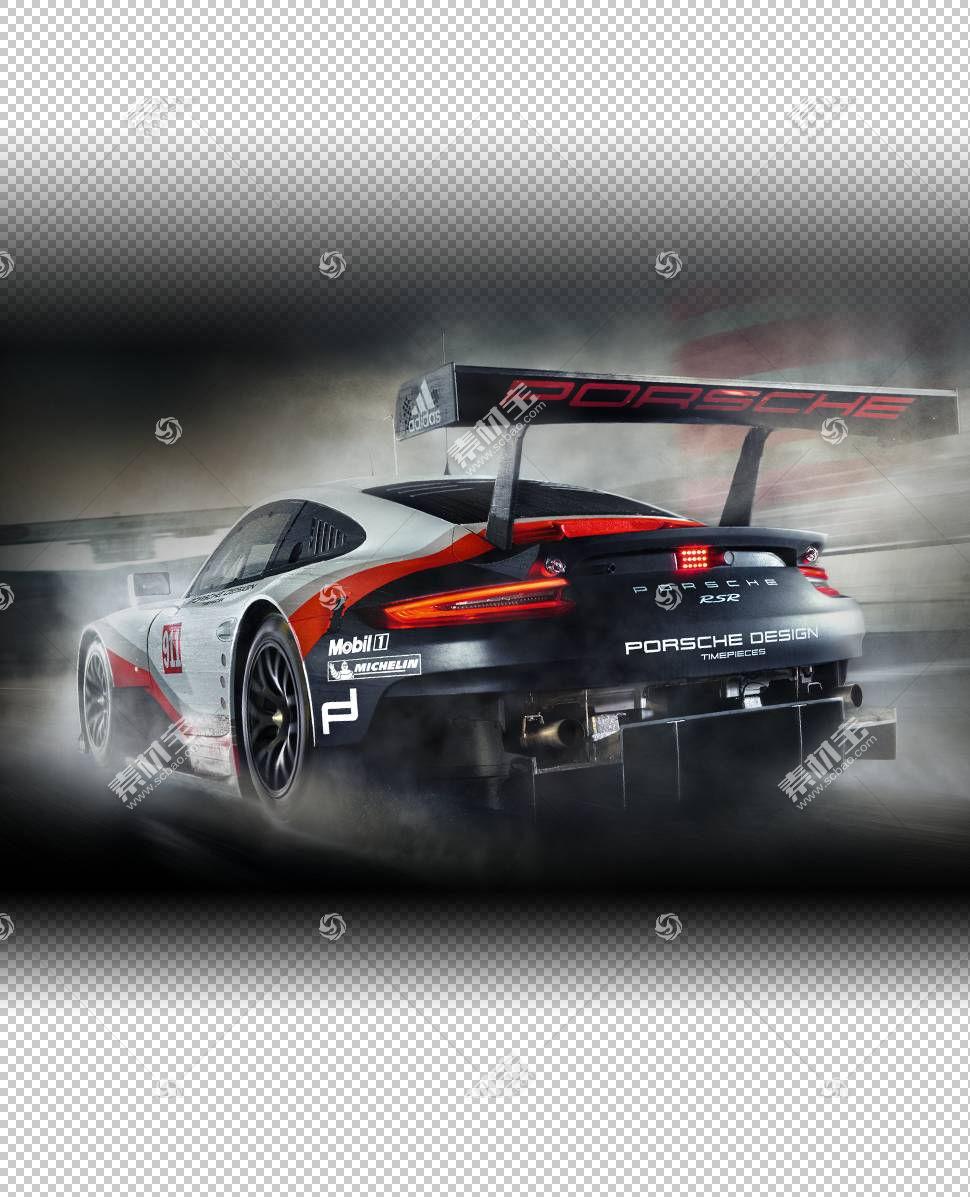 跑车保时捷911 GT3 RSR 24小时勒芒,保时捷PNG剪贴画赛车,电脑壁