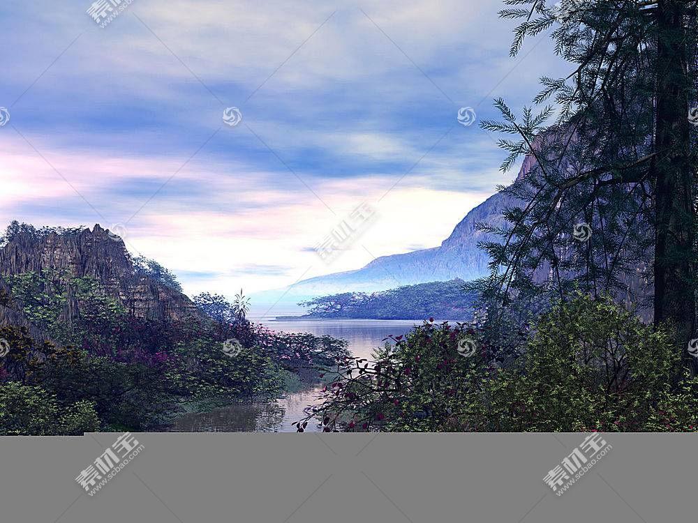 15428,地球,山,山脉,河,壁纸图片