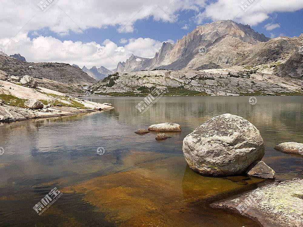 56711,地球,山,山脉,水,溪流,小溪,河,岩石,壁纸图片