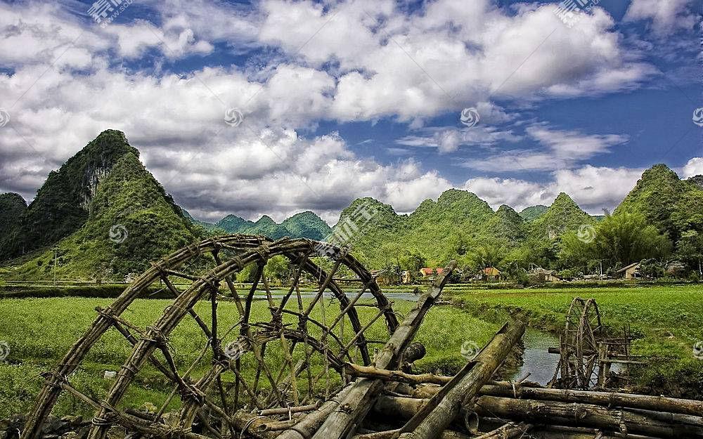 56889,地球,领域,摄影,溪流,山,云,天空,村庄,壁纸图片