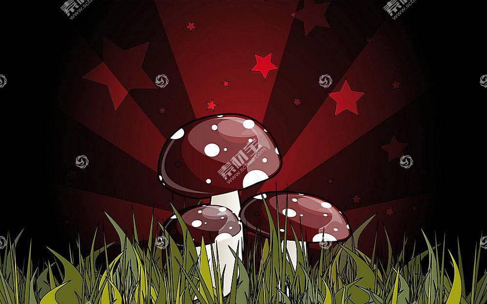 57039,地球,艺术的,蘑菇,壁纸图片