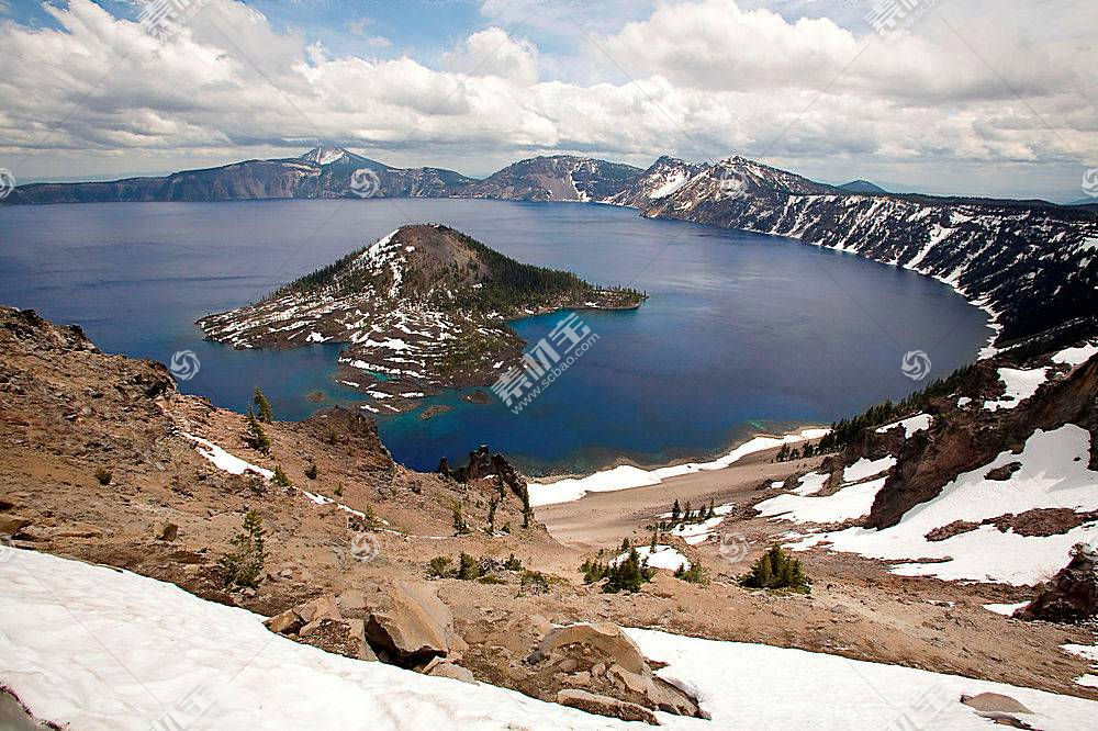 60338,地球,火山口,湖,火山口,湖,国家的,公园,犹他州,壁纸图片