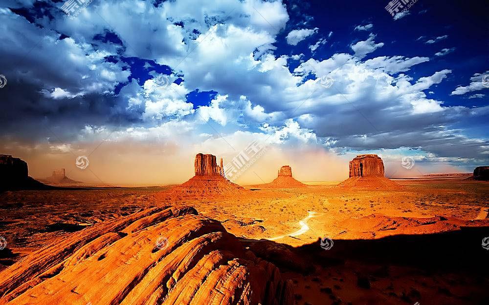 61292,地球,纪念碑,山谷,沙漠,岩石,峡谷,云,风景,自然,壁纸图片