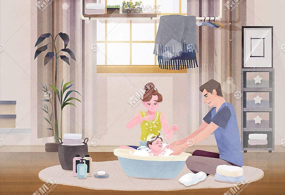 家庭育儿插图