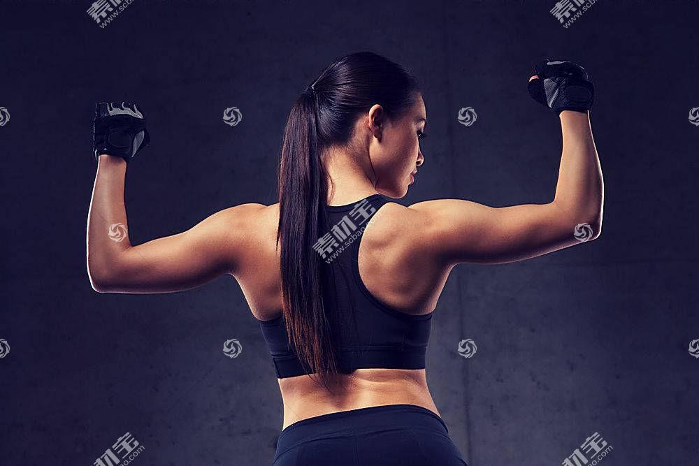 健身美女背影
