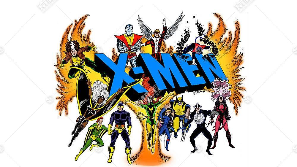 漫画壁纸,x战警,独眼巨人,巨人,金刚狼,蓝魔人,凤凰,斯科特,夏天,