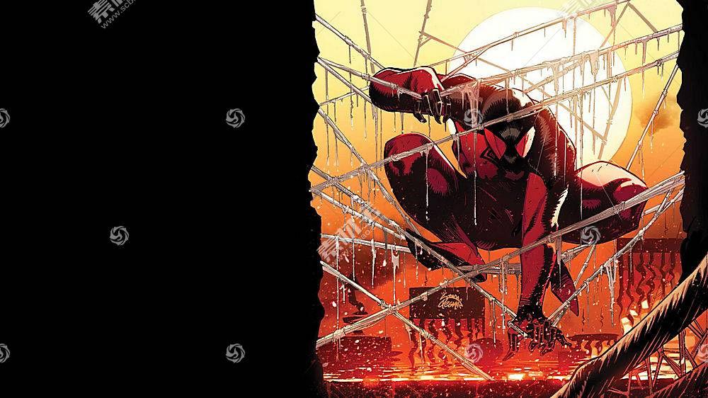 漫画壁纸,红衣,蜘蛛,壁纸(6)