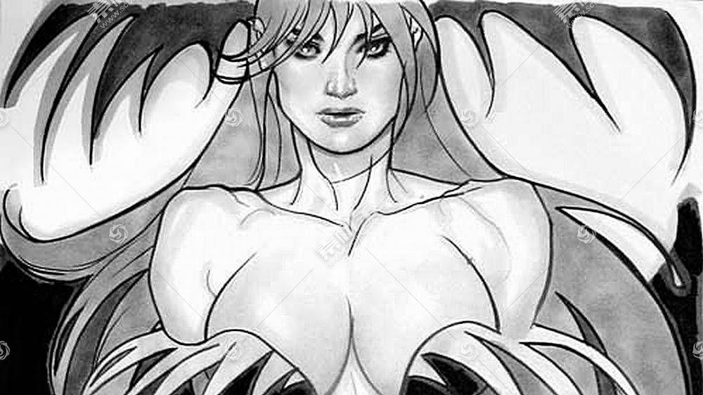 漫画壁纸,黑暗跟踪者,莫里根,安岛,壁纸(1)