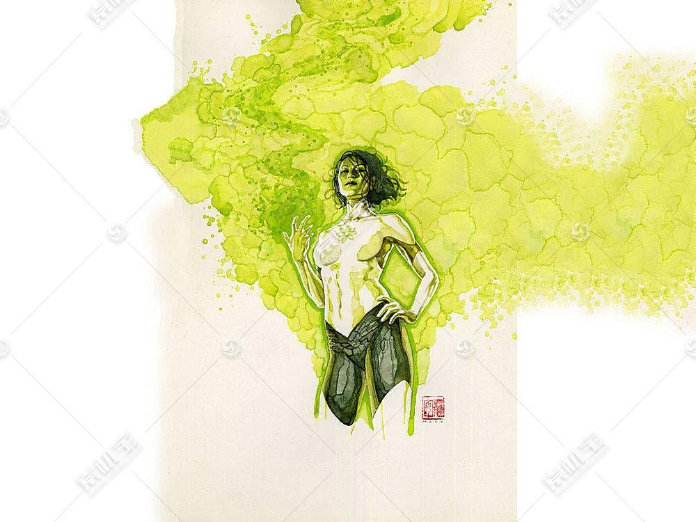 漫画壁纸,公正,联盟,关于,美国,翡翠,绿色的,灯笼,妇女,哥伦比亚
