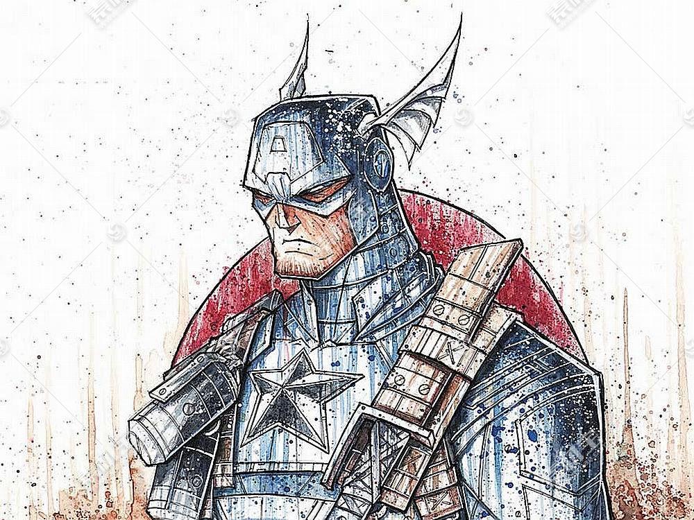 漫画壁纸,船长,美国,壁纸(37)