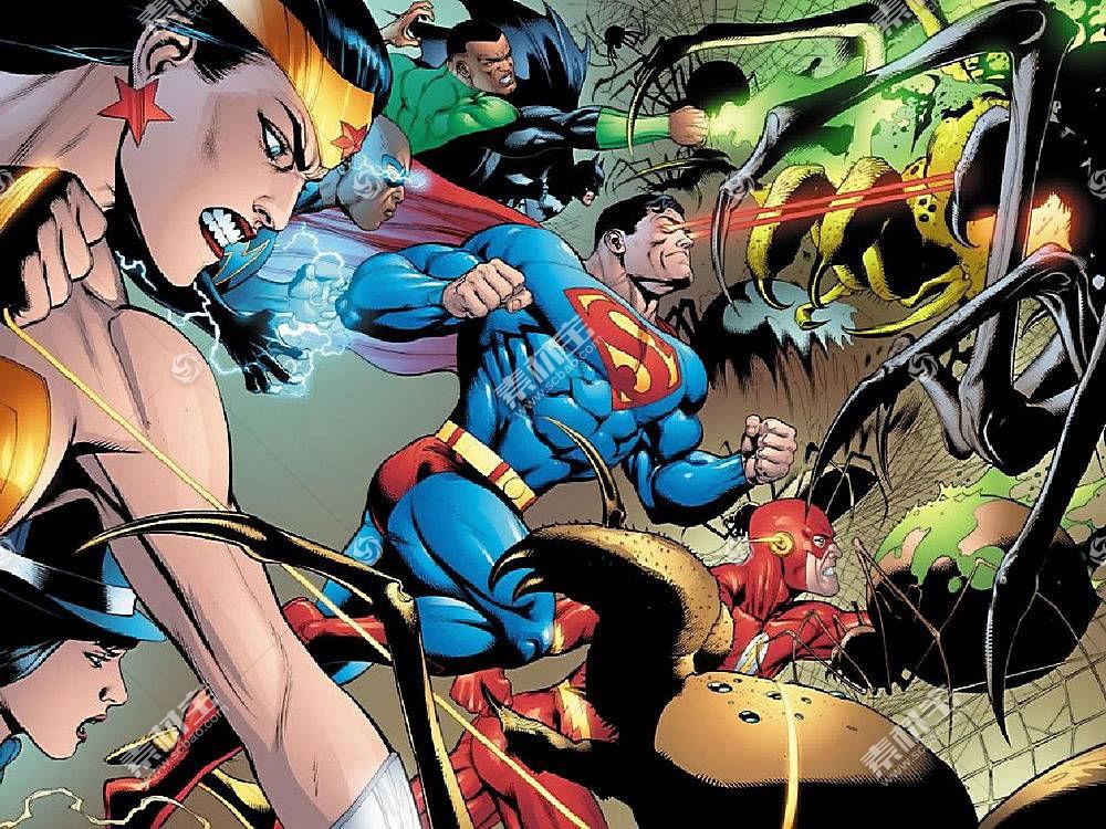 漫画壁纸,公正,联盟,奇迹,妇女,绿色的,灯笼,超人,闪光,勤务兵,黑