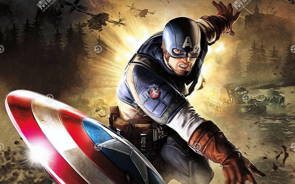 漫画壁纸,船长,美国,壁纸(62)