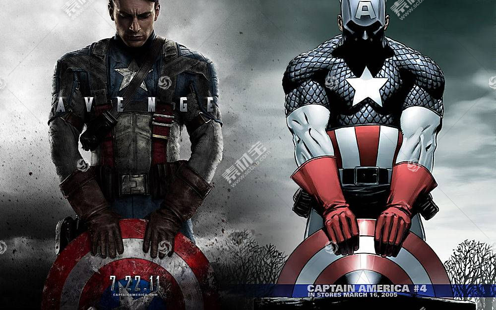 漫画壁纸,船长,美国,壁纸