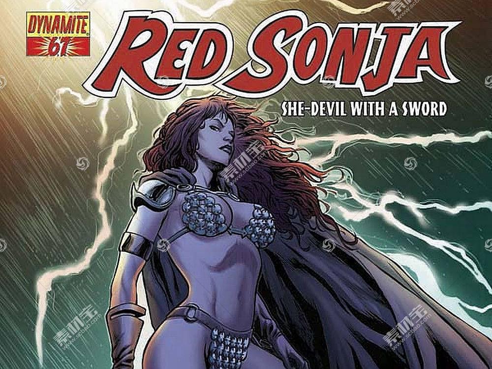 漫画壁纸,红色,Sonja,壁纸(13)