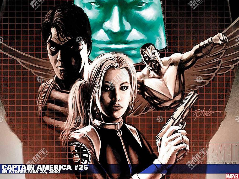 漫画壁纸,船长,美国,黑色,寡妇,壁纸