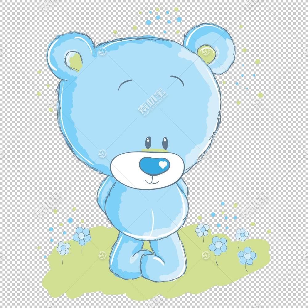 北极熊卡通,卡通熊PNG剪贴画卡通人物,蓝色,哺乳动物,动物,carniv