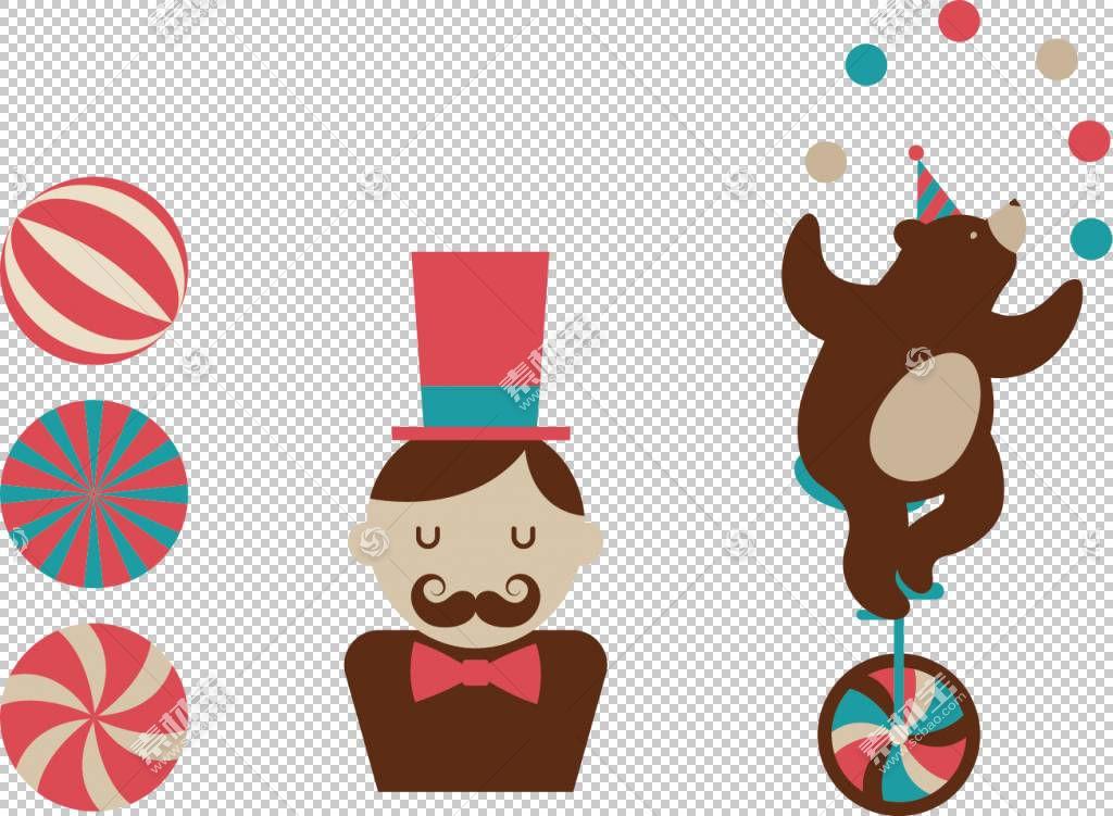 表演马戏团,黑熊元素独轮车PNG剪贴画食品,动物,黑头发,海报,生日